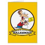 WORLDS GREATEST SALESMAN MEN CARTOON GREETING CARD