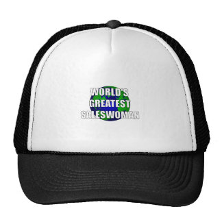 World's Greatest Saleswoman Trucker Hat