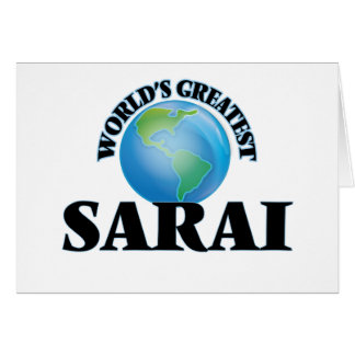 World's Greatest Sarai Stationery Note Card