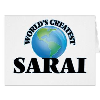 World's Greatest Sarai Large Greeting Card