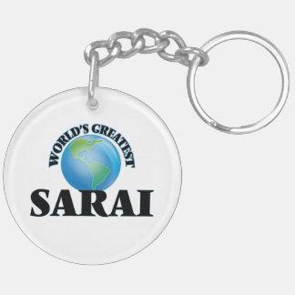 World's Greatest Sarai Double-Sided Round Acrylic Keychain