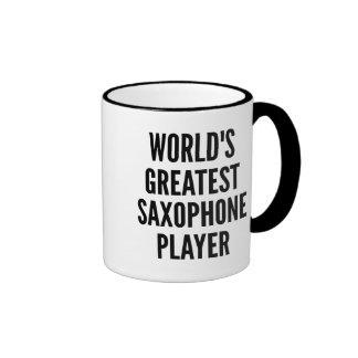 Worlds Greatest Saxophone Player Ringer Coffee Mug