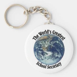 World's Greatest School Secretary Keychains