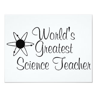 Worlds Greatest Science Teacher 2 Personalized Announcement