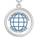 World's Greatest Science Teacher Round Pendant Necklace