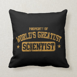 World's Greatest Scientist Throw Pillow