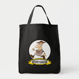 WORLDS GREATEST SCOUT LEADER MEN CARTOON TOTE BAG