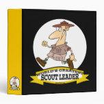 WORLDS GREATEST SCOUT LEADER MEN CARTOON 3 RING BINDER