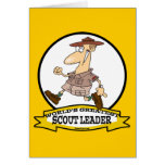 WORLDS GREATEST SCOUT LEADER MEN CARTOON CARD