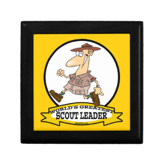 WORLDS GREATEST SCOUT LEADER MEN CARTOON JEWELRY BOX