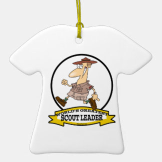 WORLDS GREATEST SCOUT LEADER MEN CARTOON ORNAMENTS