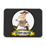 WORLDS GREATEST SCOUT LEADER MEN CARTOON RECTANGLE MAGNETS