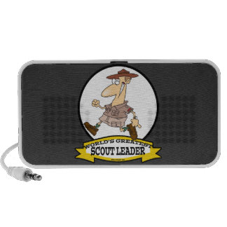 WORLDS GREATEST SCOUT LEADER MEN CARTOON PORTABLE SPEAKERS