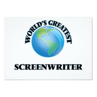 "World's Greatest Screenwriter 5"" X 7"" Invitation Card"