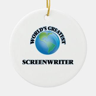 World's Greatest Screenwriter Ornaments