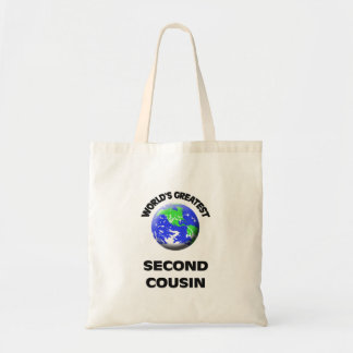 World's Greatest Second Cousin Canvas Bag