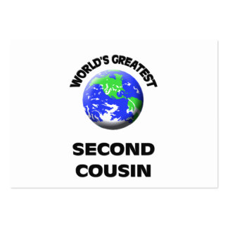 World's Greatest Second Cousin Business Card Template