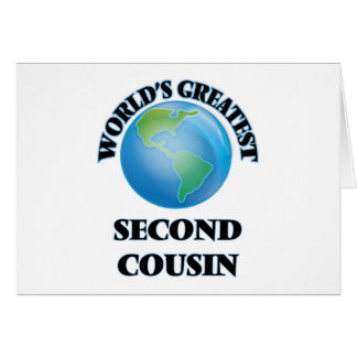 World's Greatest Second Cousin Stationery Note Card