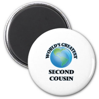 World's Greatest Second Cousin 2 Inch Round Magnet