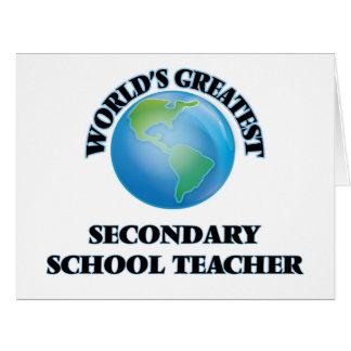 World's Greatest Secondary School Teacher Cards