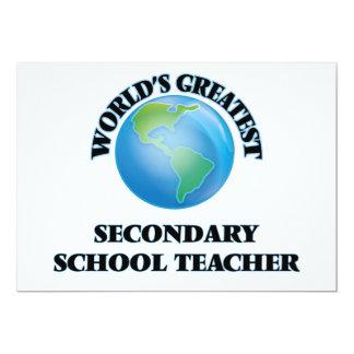 World's Greatest Secondary School Teacher Card