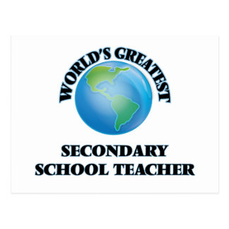 World's Greatest Secondary School Teacher Post Card