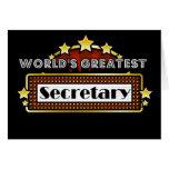 World's Greatest Secretary Greeting Cards