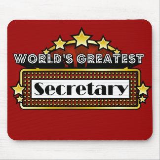 World's Greatest Secretary Mouse Pad
