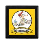 WORLDS GREATEST SECRETARY WOMEN CARTOON KEEPSAKE BOX