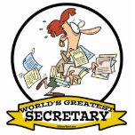 WORLDS GREATEST SECRETARY WOMEN CARTOON ACRYLIC CUT OUTS