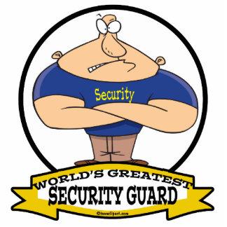 WORLDS GREATEST SECURITY GUARD MEN CARTOON STANDING PHOTO SCULPTURE