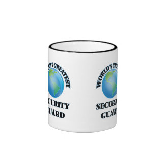 World's Greatest Security Guard Ringer Coffee Mug
