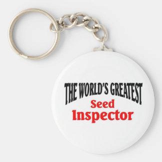 World's greatest Seed Inspector Basic Round Button Keychain