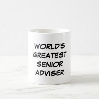 """World's Greatest Senior Adviser"" Mug"