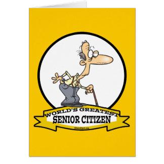 WORLDS GREATEST SENIOR CITIZEN CARTOON CARD