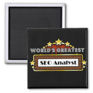 World's Greatest SEO Analyst 2 Inch Square Magnet