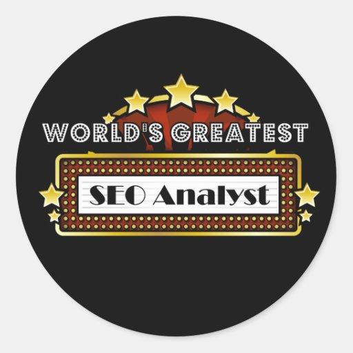 World's Greatest SEO Analyst Classic Round Sticker