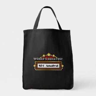 World's Greatest SEO Analyst Grocery Tote Bag