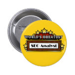 World's Greatest SEO Analyst Pinback Buttons
