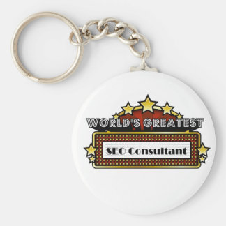 World's Greatest SEO Consultant Key Chain