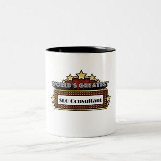World's Greatest SEO Consultant Two-Tone Coffee Mug
