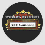 World's Greatest SEO Manager Round Stickers