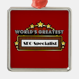 World's Greatest SEO Specialist Metal Ornament