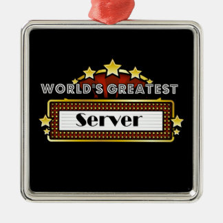 World's Greatest Server Metal Ornament