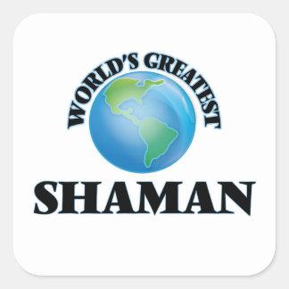 World's Greatest Shaman Square Stickers