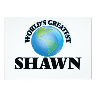 "World's Greatest Shawn 5"" X 7"" Invitation Card"