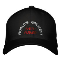 WORLD'S GREATEST, SHEEP FARMER EMBROIDERED BASEBALL HAT