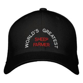 WORLD'S GREATEST, SHEEP FARMER EMBROIDERED BASEBALL HAT