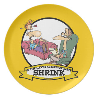 WORLDS GREATEST SHRINK MEN CARTOON PARTY PLATES
