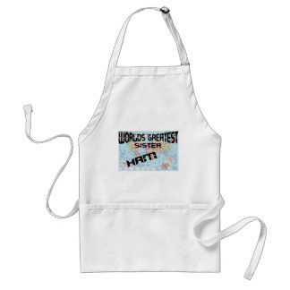 Worlds greatest sister adult apron